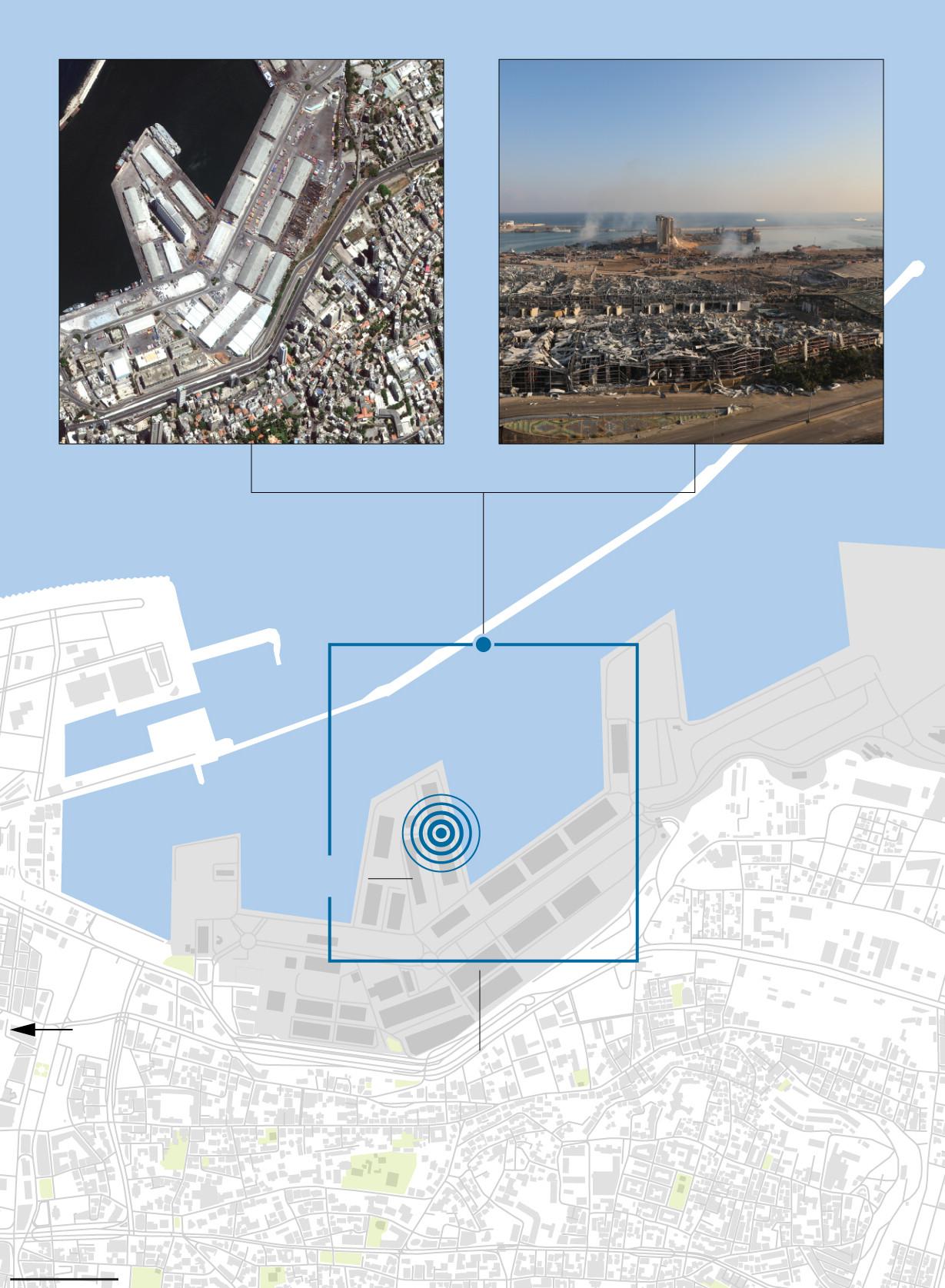Doble explosión en Beirut